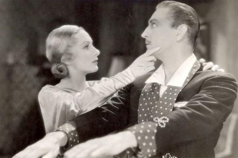 Karen Morley y John Barrymore en Arsène Lupin, de 1932