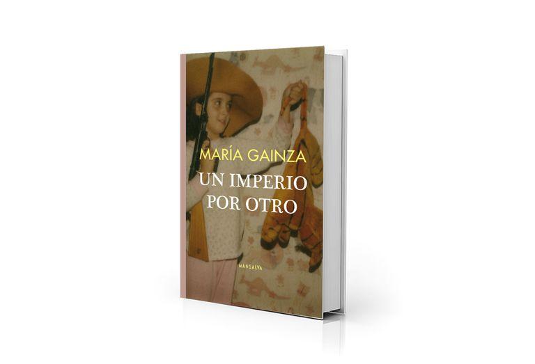 """María Gainza niña en la portada de """"Un imperio por otro"""", su primer libro de poemas"""