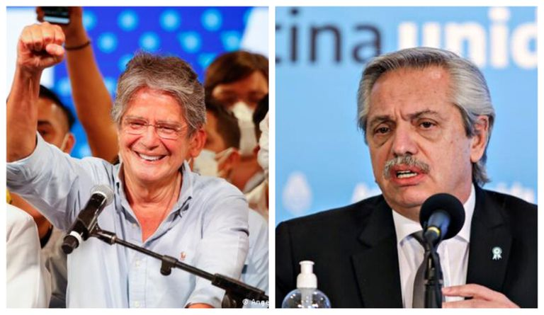Elecciones en Ecuador: Fernández felicitó a Lasso por ser electo presidente