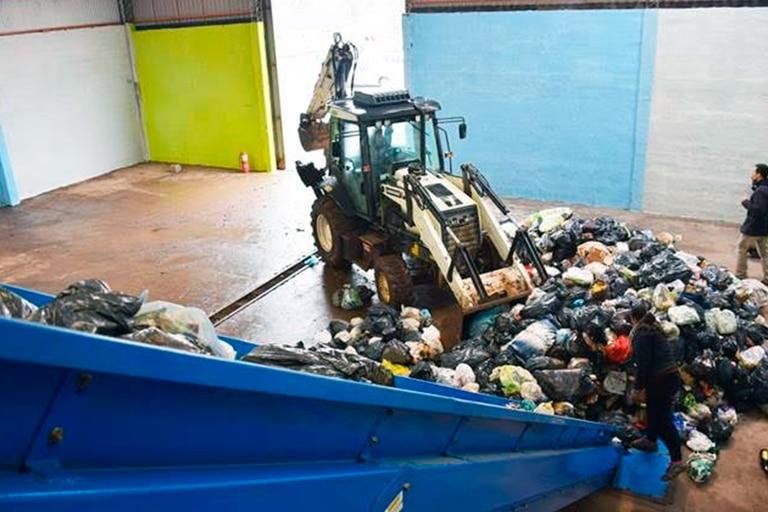 La planta municipal de reciclado de Rufino días antes de su inauguración