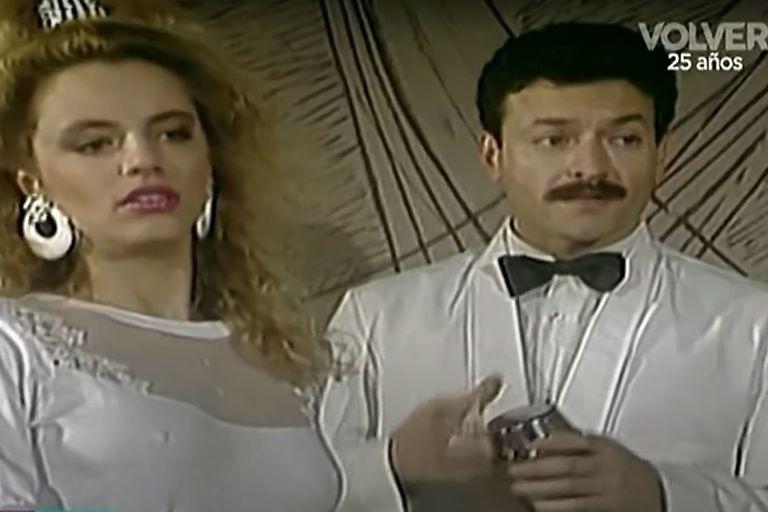 Adriana Basualdo, en un sketch de Matrimonios y algo más
