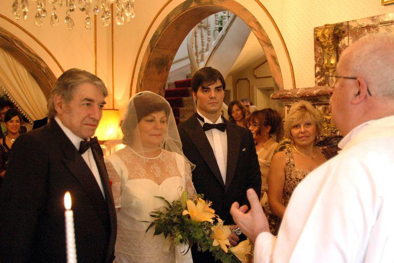 Sandro y su última mujer, Olga Garaventa