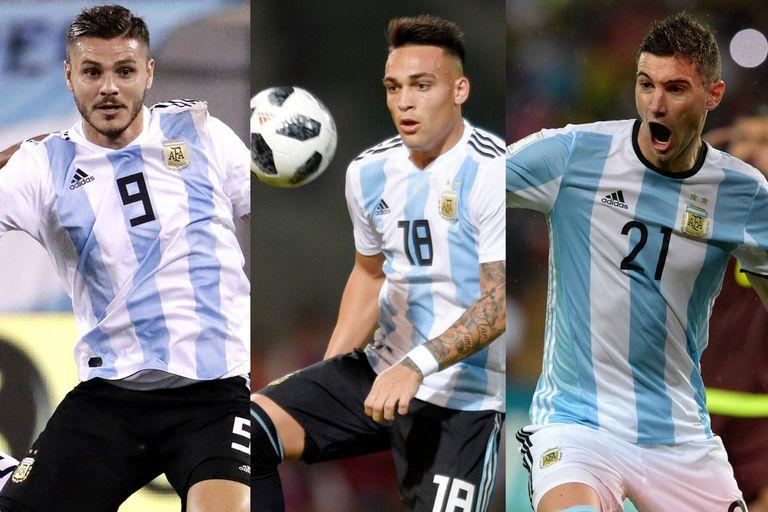 Cinco nombres: los número 9 del pasado y el presente de la selección argentina