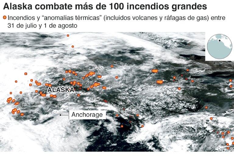 Los incendios han consumido los famosos taiga, o bosques boreales de Siberia