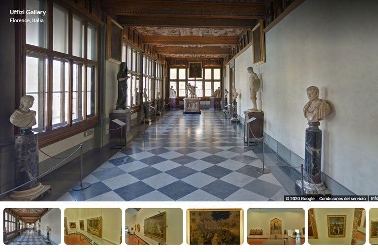 Recorrido por la impactante galería Uffizi, en Florencia.