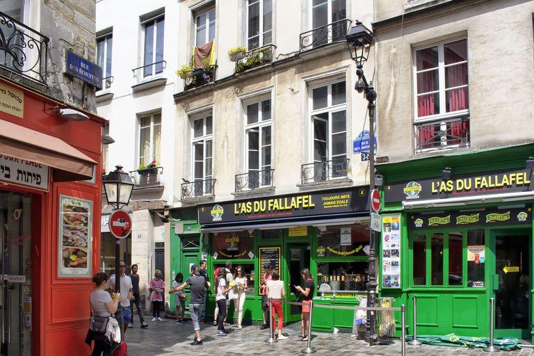 Uno de los puntos más visitados de París, L as Du Fallafel de Le Marais