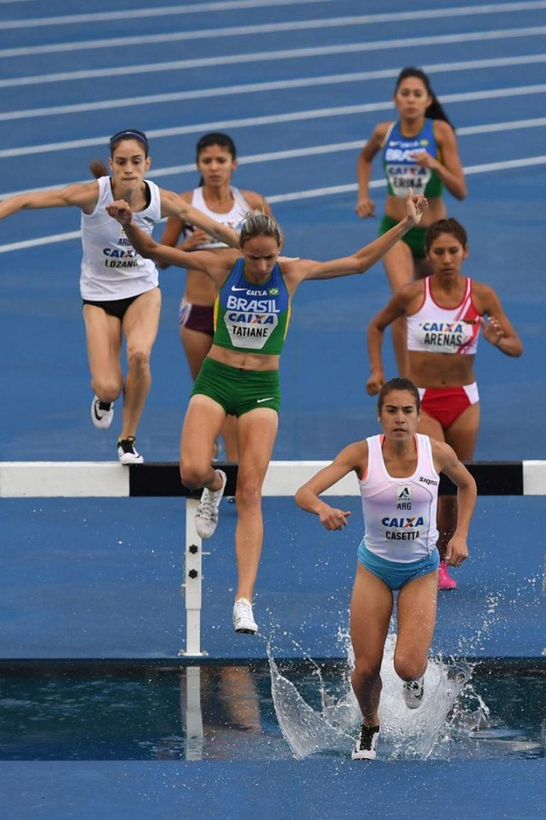Belén Casetta en la carrera que logró clasificar a Río 2016