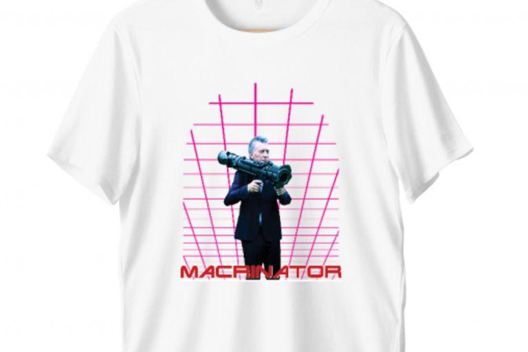 Lanzan una marca de remeras macristas con guiños a Terminator y Andy Warhol