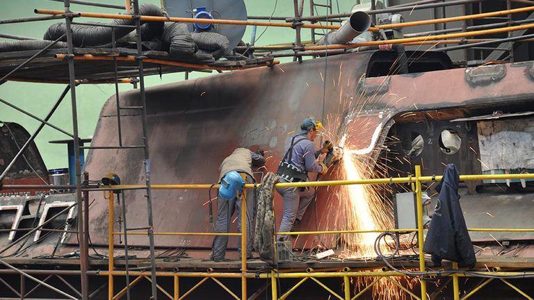 En diciembre de 2008 comenzaron los trabajos de reparación en el submarino ARA San Juan