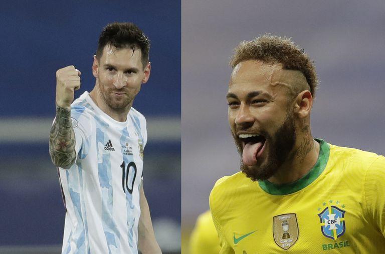 Lionel Messi de Argentina y Neymar del seleccionado  de Brasil, la final que quiere el crack de PSG para la Copa América