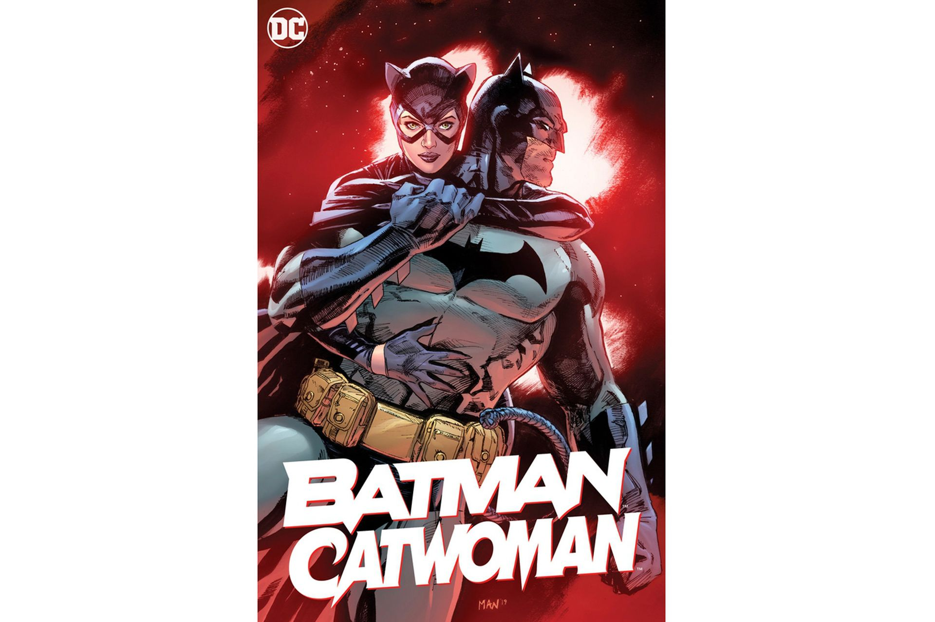 Ilustración de Clay Mann para la portada del primer número de la miniserie gráfica Batman / Catwoman, de DC Comics, que estará disponible a fin de año