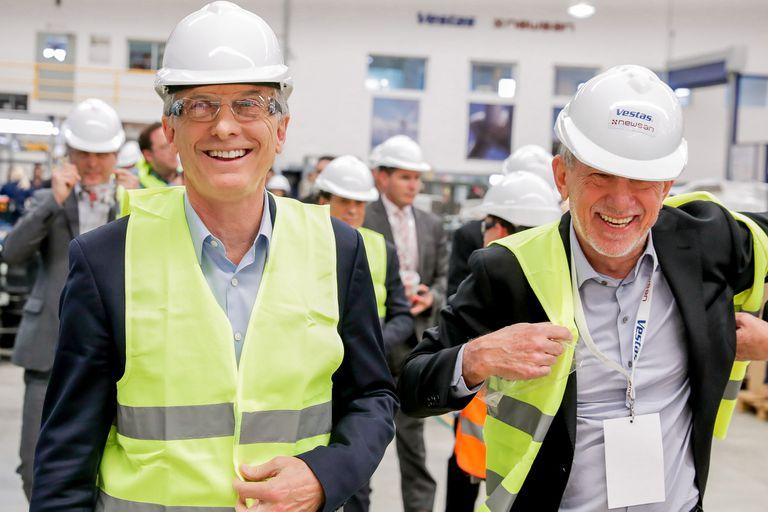 Mauricio Macri participó en noviembre de la inauguración de la fábrica de componentes nacionales para aerogeneradores de Vestas y Newsan