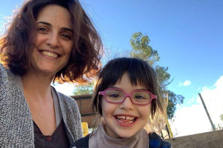 Julieta Díaz y su hija Elena, pasaron juntas la cuarentena por la pandemia de coronavirus