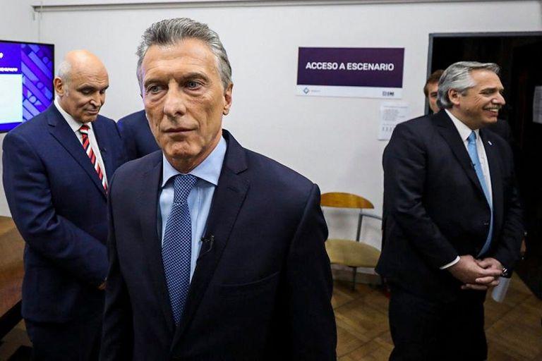La previa. Macri y Fernández no cruzaron palabra en el detrás de escena del debate