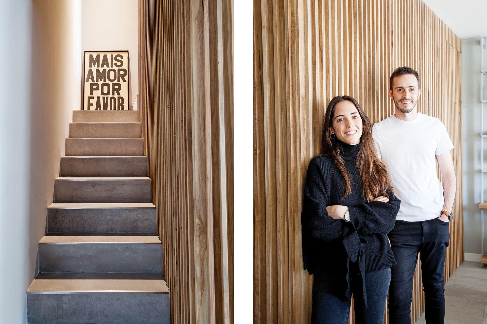 Los arquitectos Agustina Parodi y Matías Di Pietro, socios de DIPA Arquitectos.