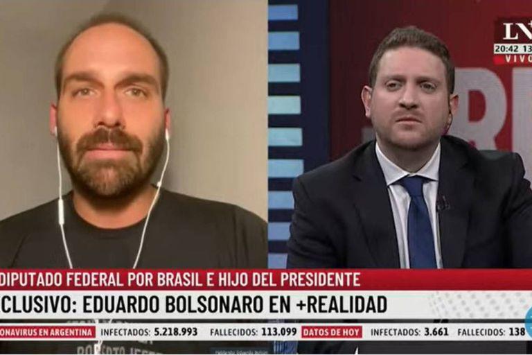 """Eduardo Bolsonaro: """"El miedo que tenemos es que la Argentina siga el camino de Venezuela"""""""
