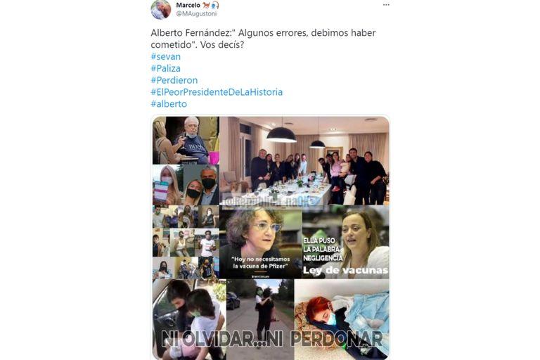 Los internautas opinaron sobre las situaciones que derivaron en la derrota del oficialismo