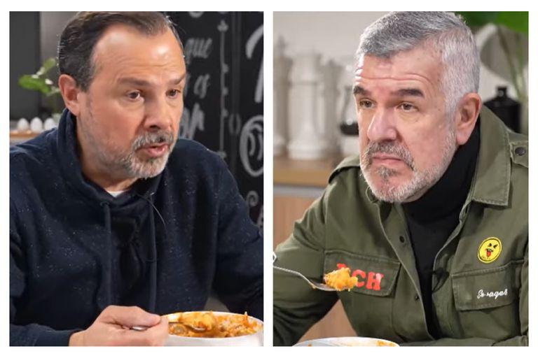 """Dady Brieva y """"El Gato"""" Sylvestre cocinaron polenta al aire y estallaron las redes"""