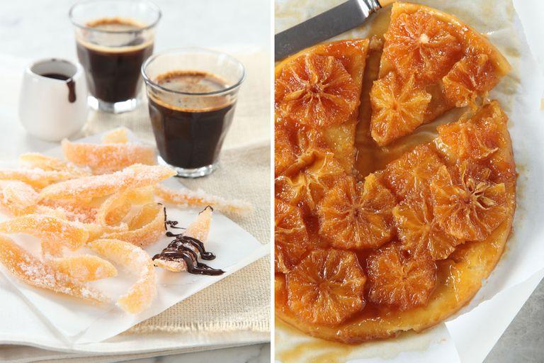 2 recetas con cítricos: cascaritas de pomelo y tatin de naranjas