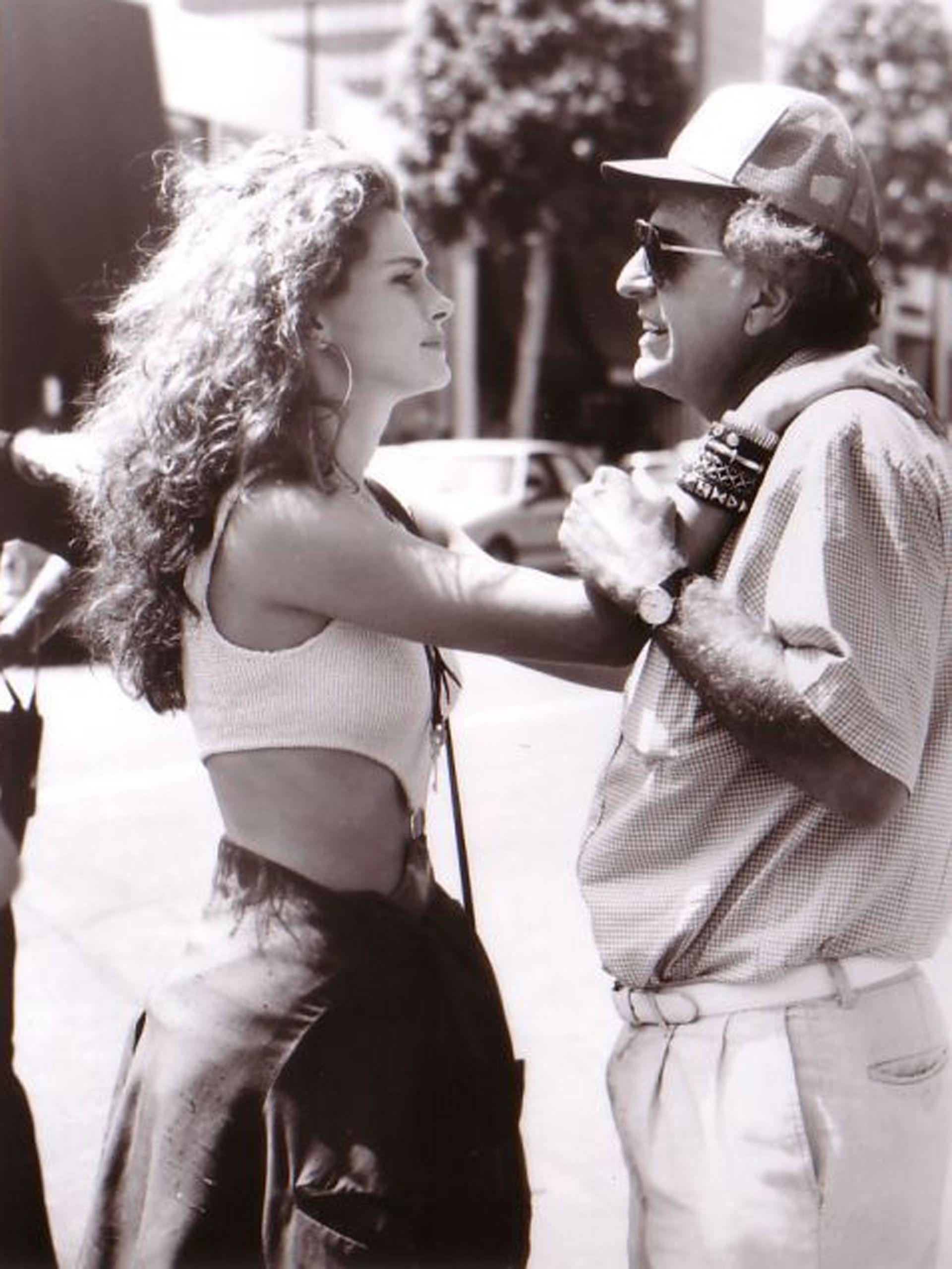 Marshall y Roberts, durante el rodaje de Mujer Bonita