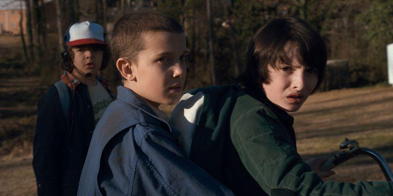 Los jóvenes protagonistas de Stranger Things