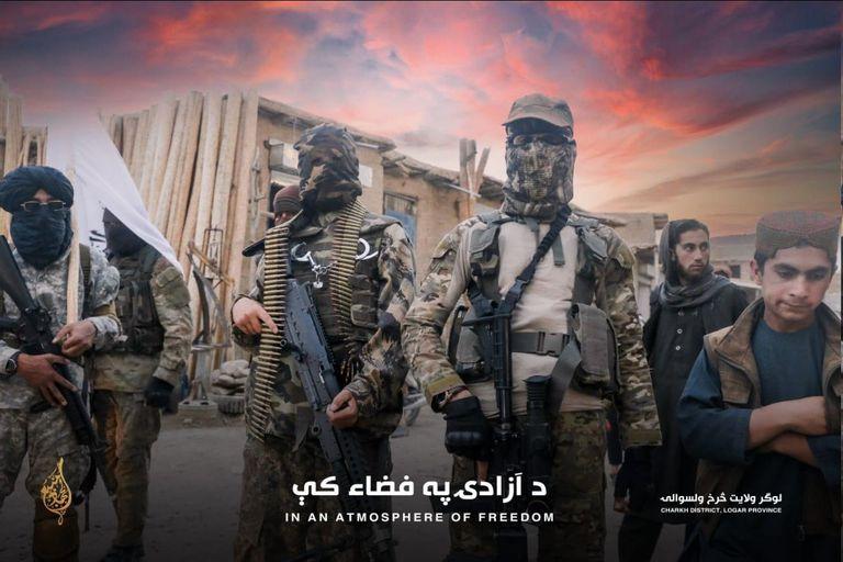 """Una foto de relaciones públicas de los talibanes, rematada con la frase """"En una atmósfera de libertad"""""""