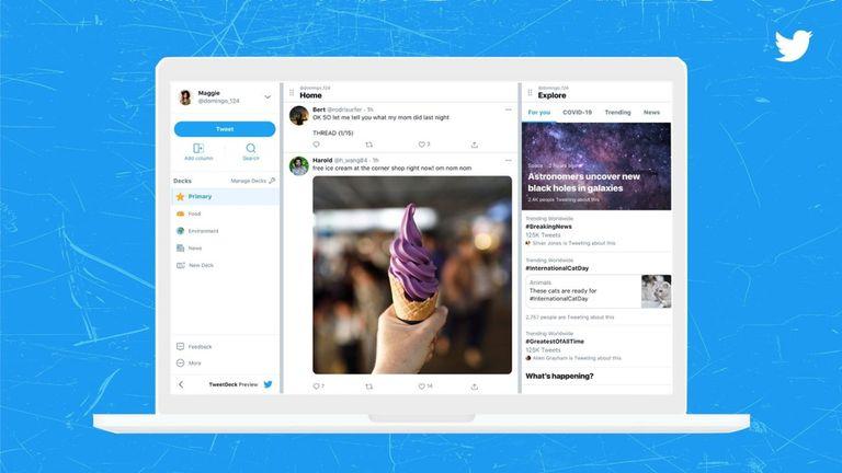 21-07-2021 Rediseño de TweetDeck POLITICA INVESTIGACIÓN Y TECNOLOGÍA TWITTER OFICIAL