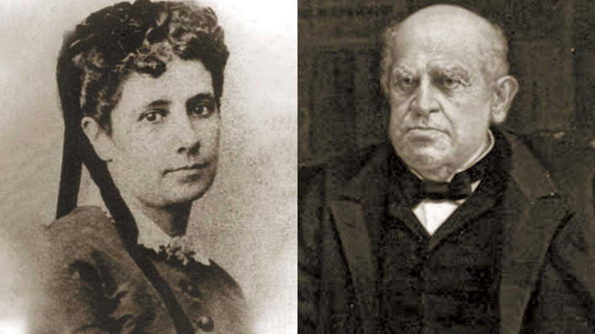 Aurelia Vélez y Domingo F. Sarmiento