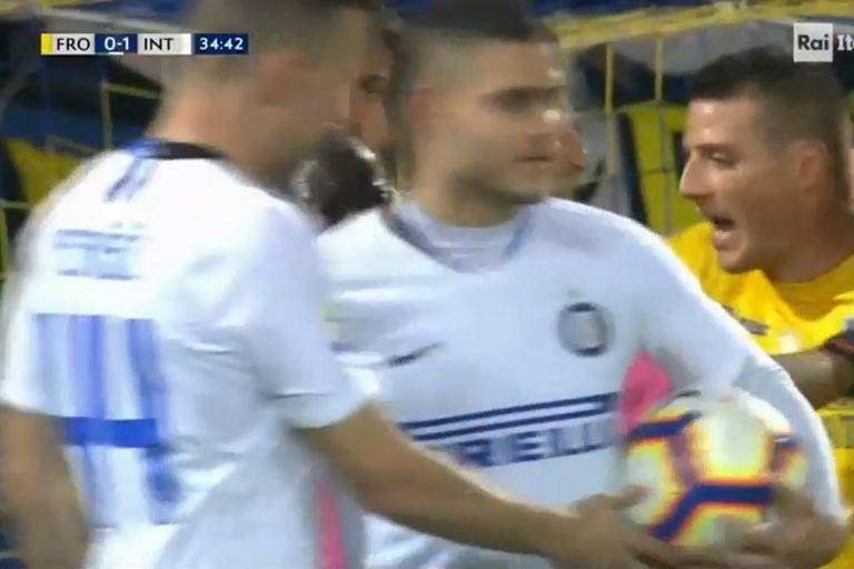 Tensión en Inter: a Icardi no le dejaron patear un penal y así fue su reacción
