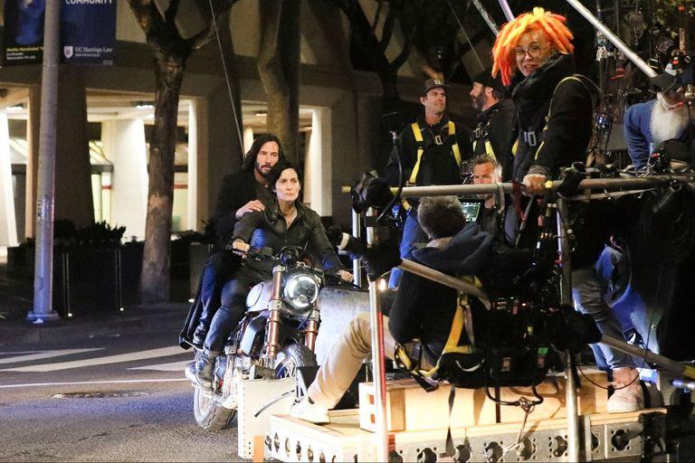 La película de Lana Wachowski está grabando en la ciudad del norte de California hace un tiempo
