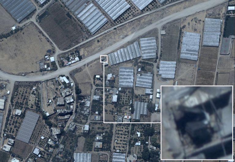 Imágenes de inteligencia de las Fuerzas de Defensa de Israel difundidas en las redes sociales