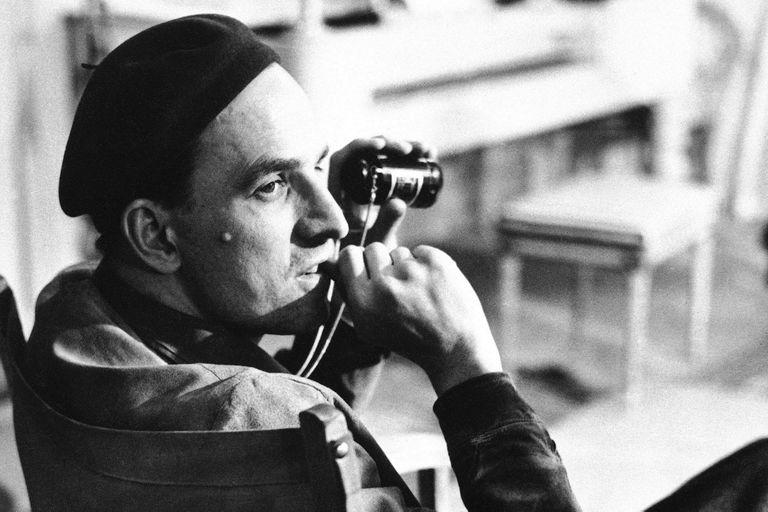 Bergman en la década del 60, en pleno rodaje de una de sus películas