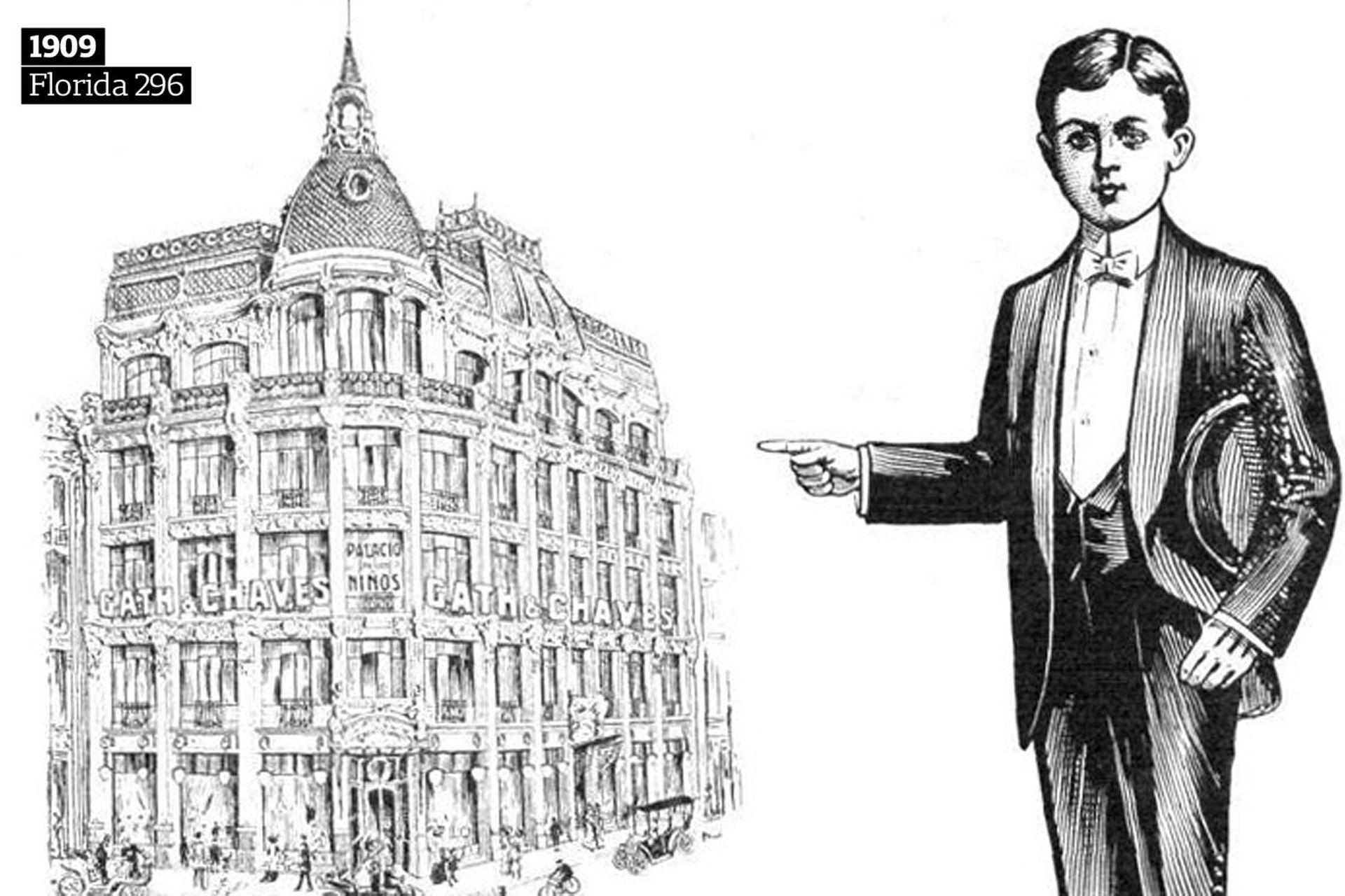 En la esquina de Sarmiento y Florida se inauguró, en 1909, el Palacio de los Niños.