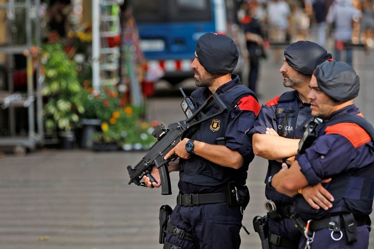Un importante operativo de seguridad en las cercanías a Las Ramblas