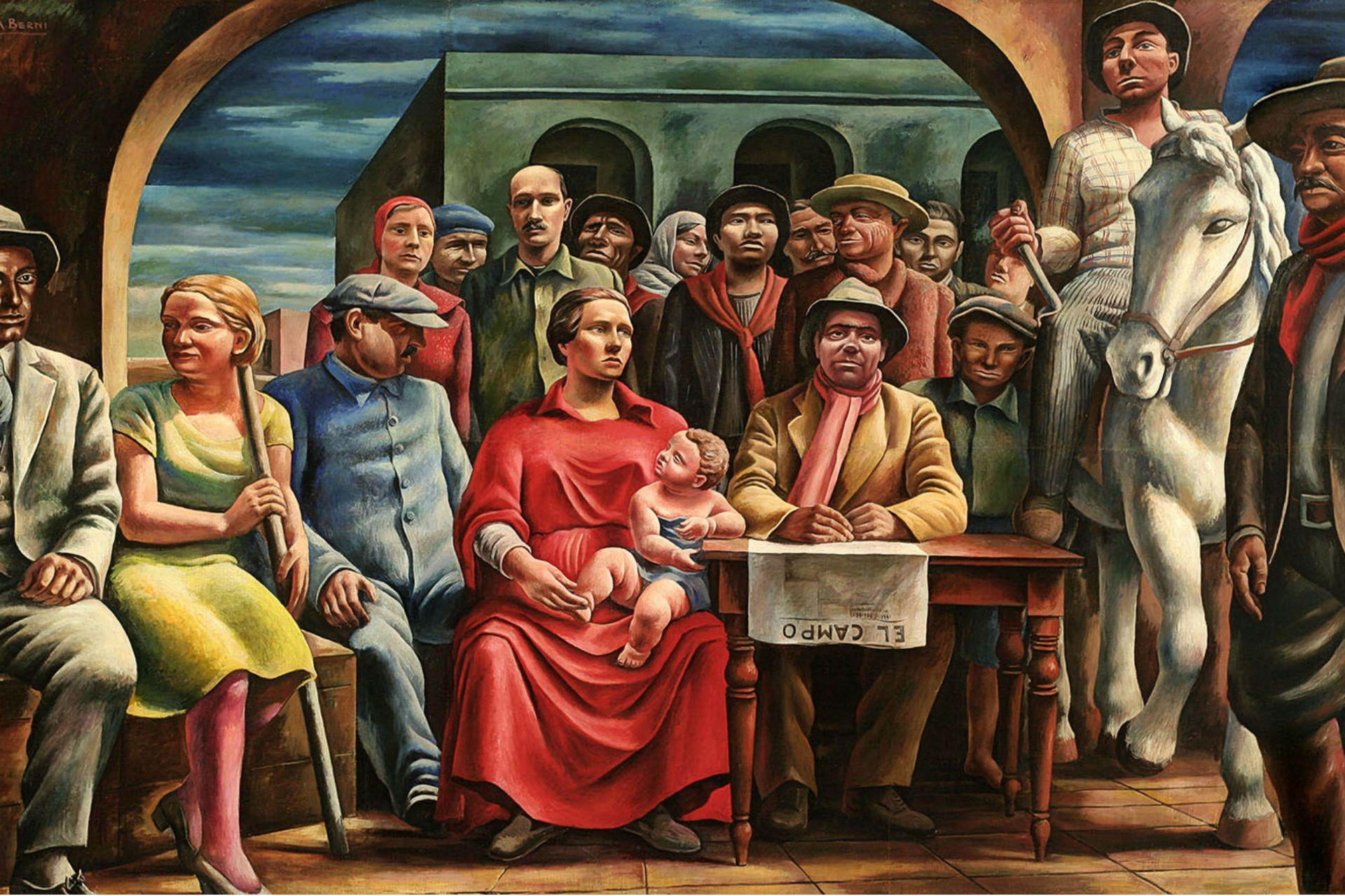 Chacareros, de Antonio Berni (detalle), una de las obras más destacadas de la colección del Museo Sívori