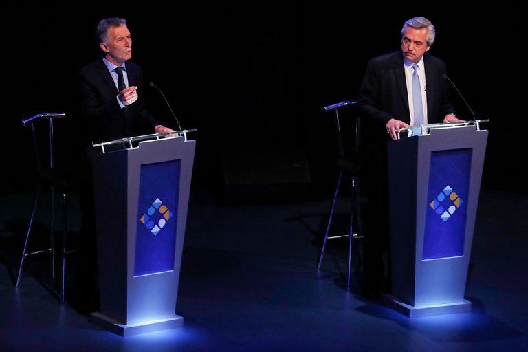 Alberto Fernández y Mauricio Macri, frente a frente