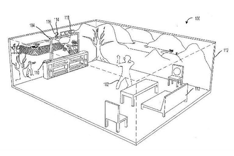 Microsoft registró una tecnología inmersiva que promete utilizar toda una habitación como parte de un escenario de un videojuego