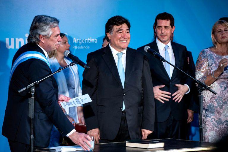 Carlos Zannini durante su jura como Procurador del Tesoro