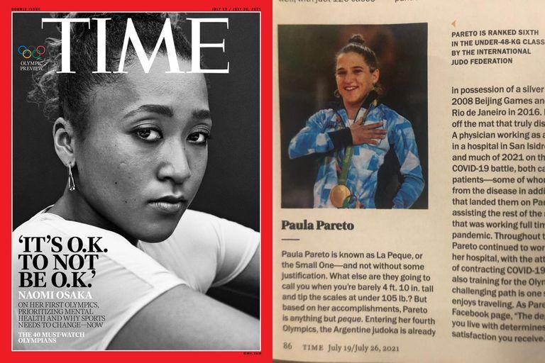 """Osaka en la tapa del especial de Time de los Juegos Olímpicos y Paula Pareto, la argentina """"imperdible"""" en Tokio 2020"""