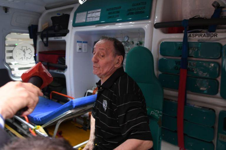 El actor fue llevado por el SAME al Hospital Fernández