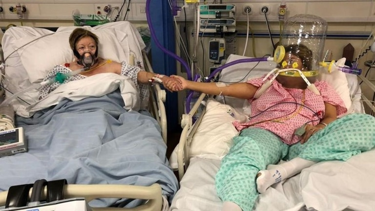 Maria Rico y su hija Anabel Sharma fueron internadas en el hospital por covid-19 el mismo día