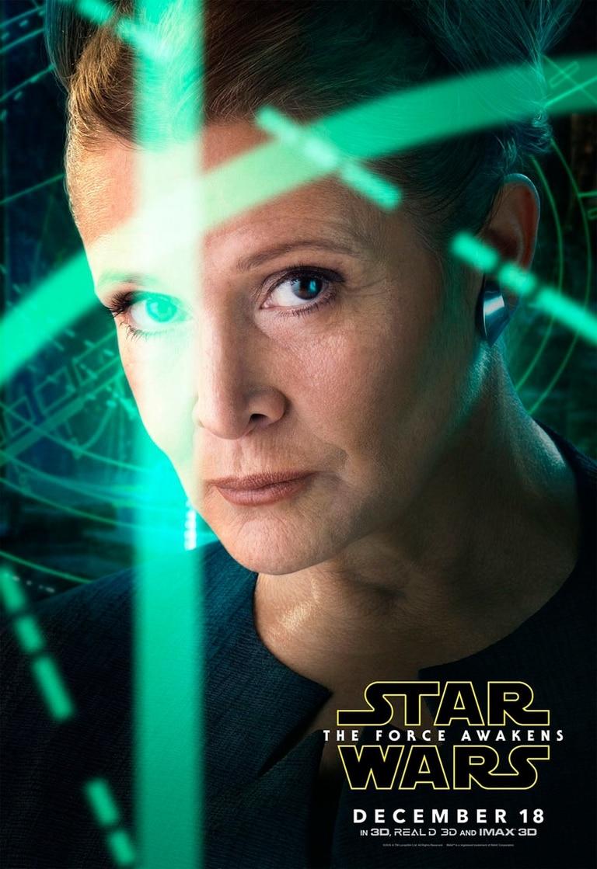 El poster de Leia Organa (Carrie Fisher)