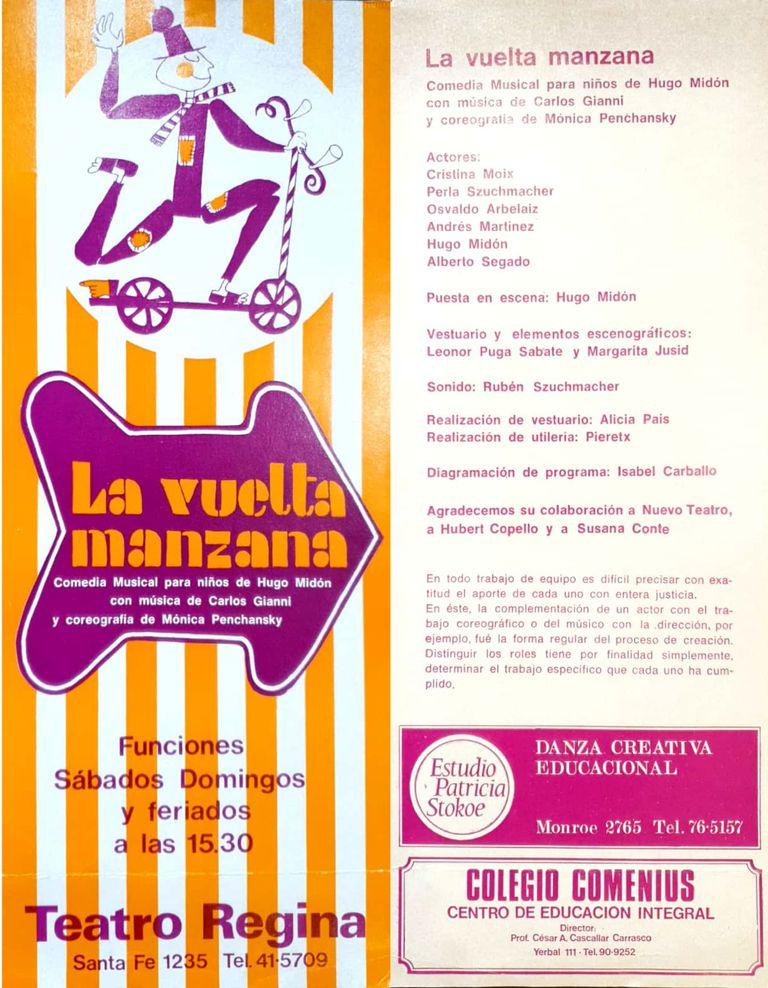 Programa original de La vuelta manzana (1970)