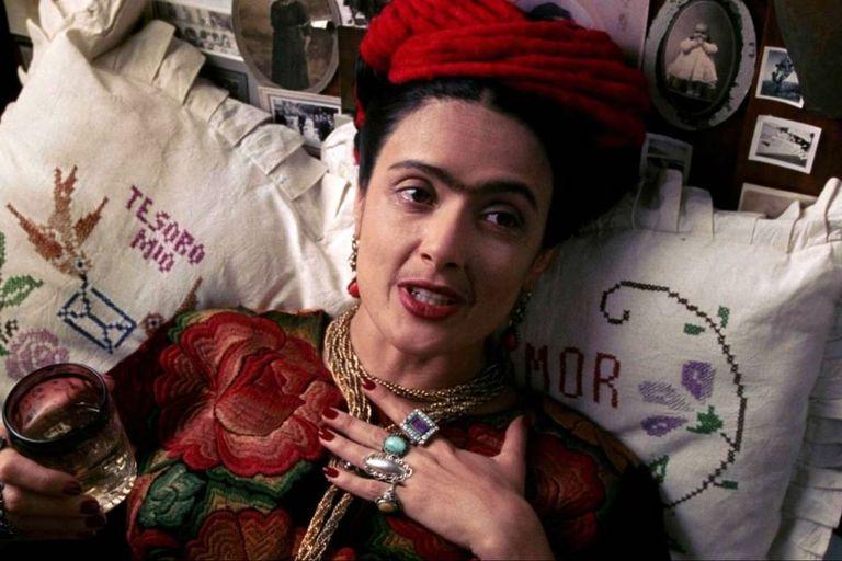 Salma Hayek como Frida en la biopic homónima