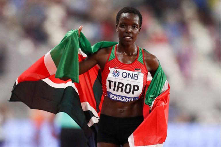 La atleta keniata que consiguió un récord del mundo y apareció apuñalada