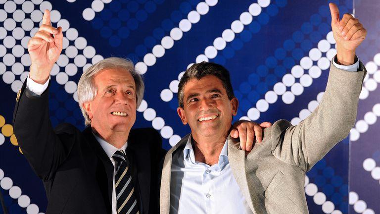 Raul Sendic junto a Tabare Vazquez