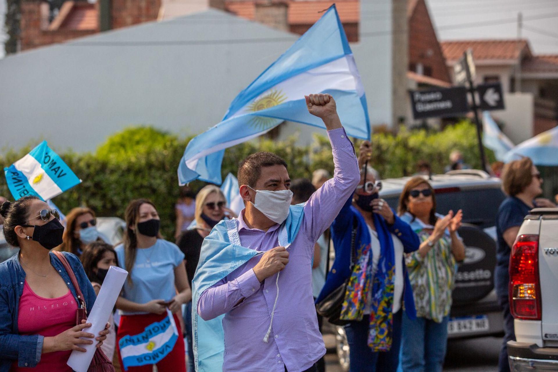 La protesta en Salta