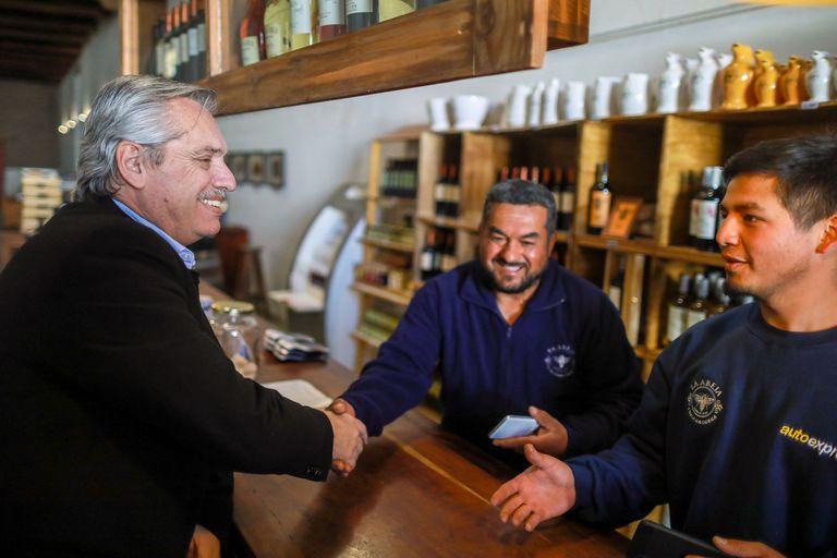 Alberto Fernández hizo dos días de campaña en Mendoza