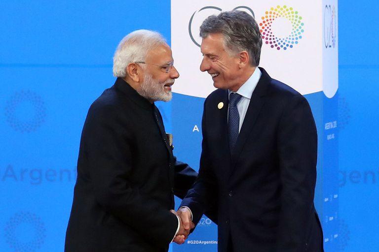 Será el cuarto encuentro del primer ministro de la India, Narendra Modi, y el presidente Mauricio Macri; la última vez se reunieron en Buenos Aires por el G20