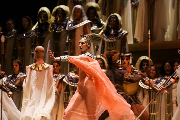 """Paula Cassano, en su reciente actuación en la ópera """"Aida"""", en el Teatro Colón"""